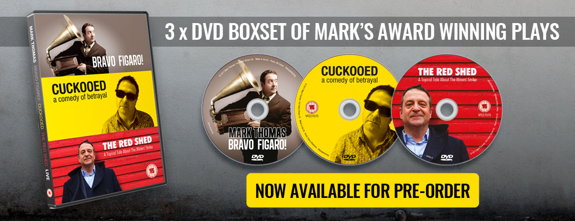 3 DVD Box-set of Mark's Award Winning Plays: Bravo Figaro! Cuckooed and The Red Shed – Now available to buy